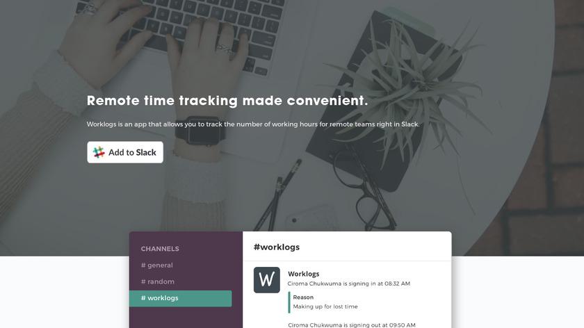 Worklogs Landing Page