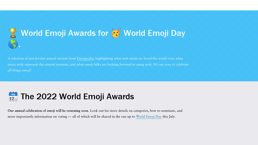 World Emoji Awards 2017 Landing Page