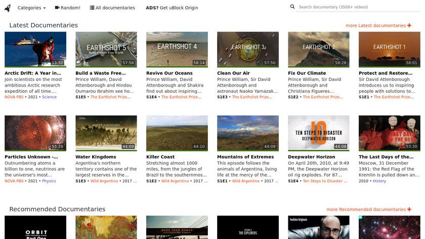 iHaveNoTV.com Landing Page