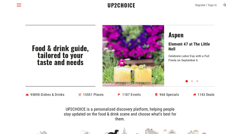 UP2CHOICE Landing Page