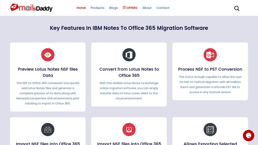 MailsDaddy NSF to Office365 Landing Page