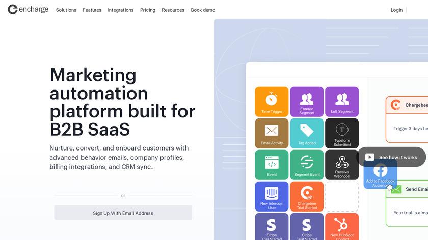 Encharge.io Landing Page