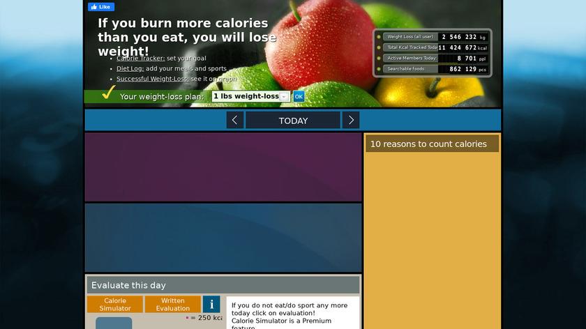 CalorieBase Landing Page