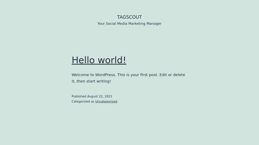TagScout Landing Page