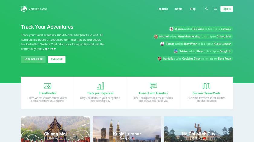Venture Cost Landing Page