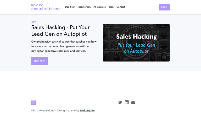 Sales Hacking Course Landing Page