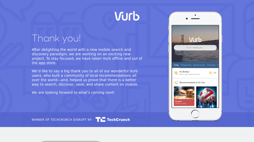 Vurb Landing Page