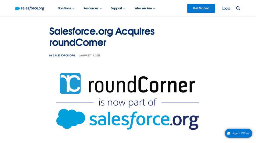 roundCorner Landing Page