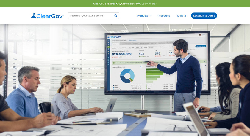 ClearGov Landing Page