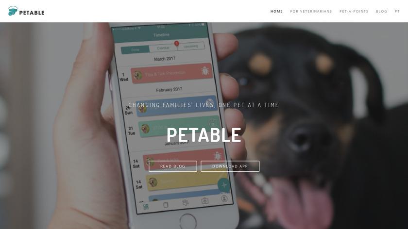 Petable Landing Page