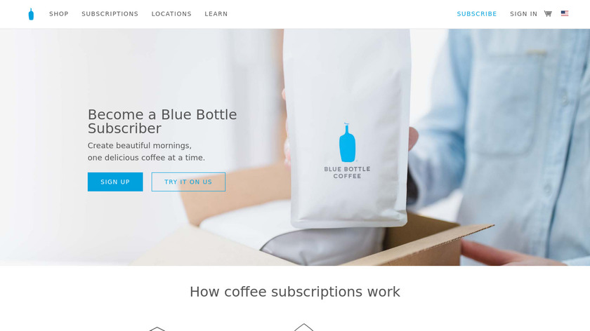 Blue Bottle Coffee Subscription Landing Page