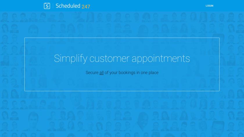Scheduled247 Landing Page