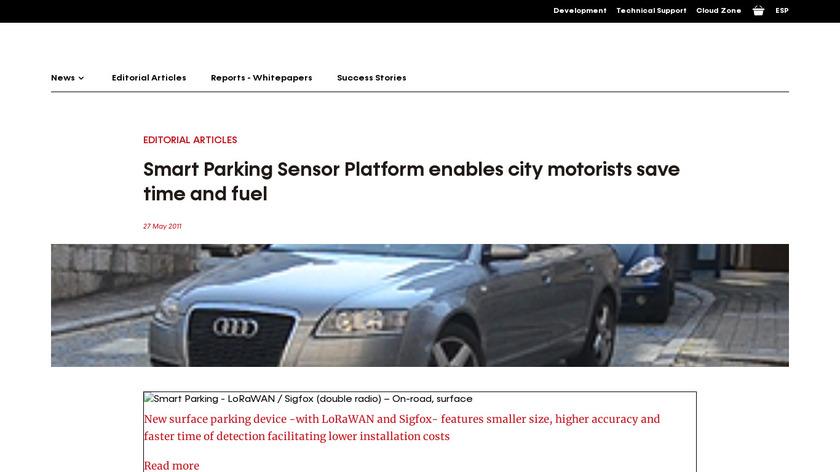 Smart Parking Landing Page