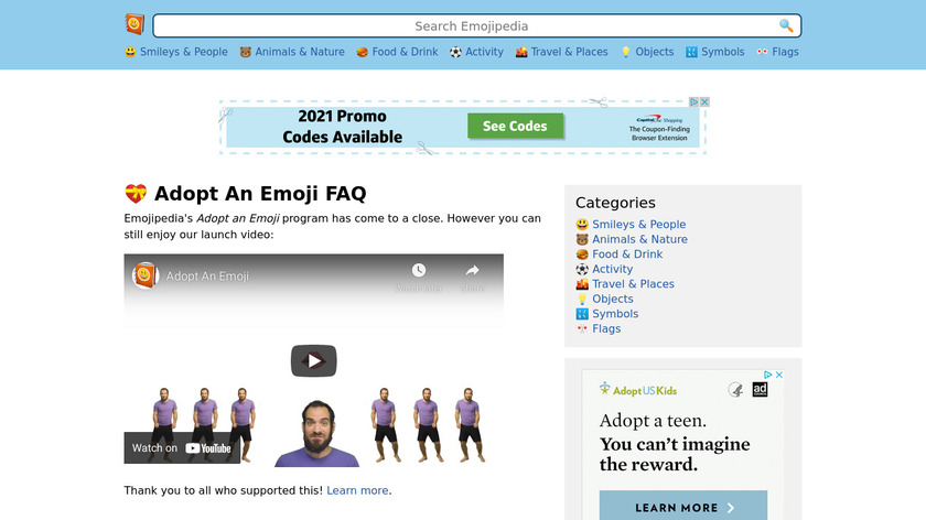emojipedia.org Adopt An Emoji Landing Page