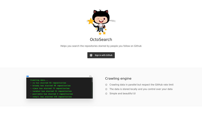 OctoSearch Landing Page