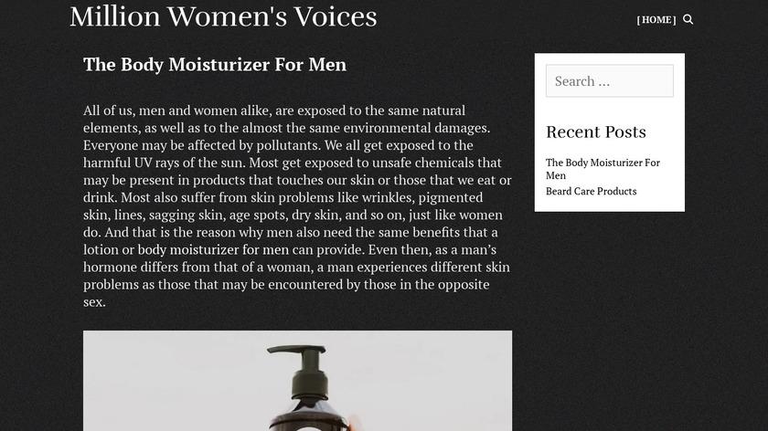 Million Women's Voices Landing Page