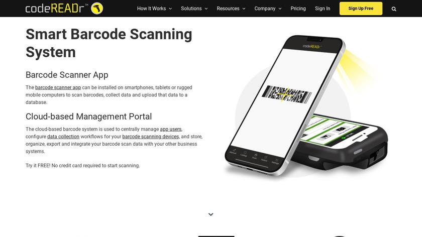 CodeREADr Landing Page