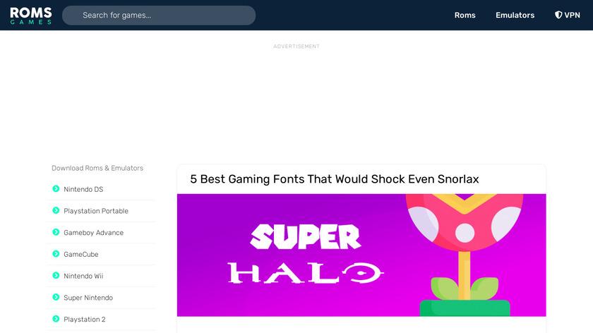 Download ROMs Landing Page