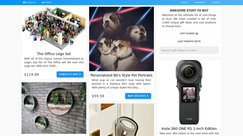 Awesome Stuff To Buy Landing Page