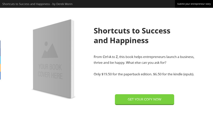 Shortcuts to Success and Happiness Landing Page