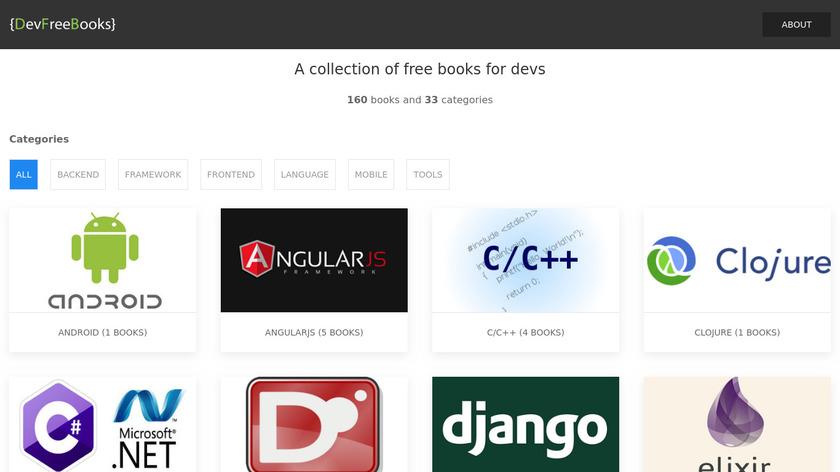 DevFreeBooks Landing Page