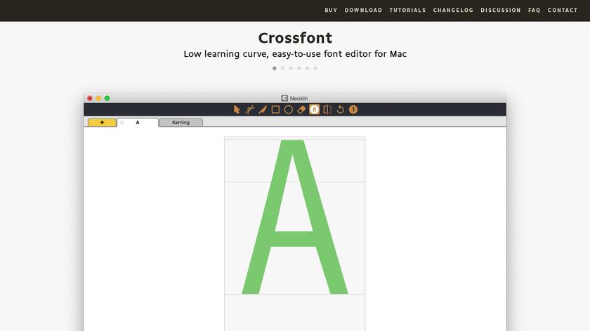 Crossfont by Pixel Egg Studio Landing Page