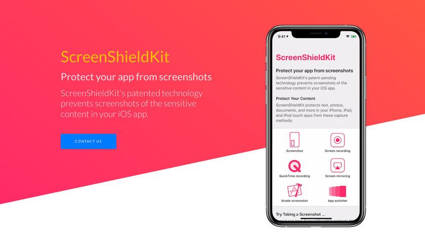 ScreenShieldKit Landing Page