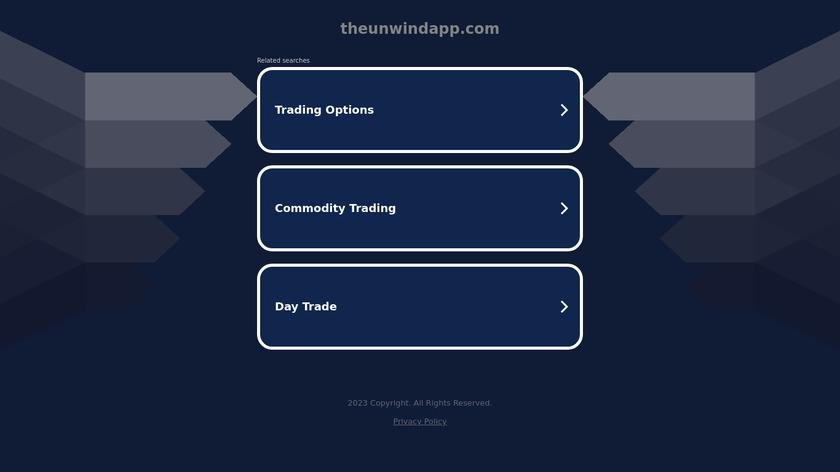 Unwind Landing Page