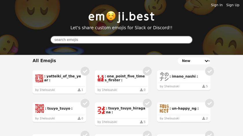 Emoji Best Landing Page
