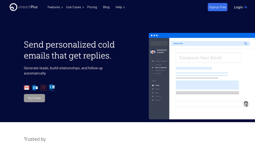 Outreach Plus Landing Page