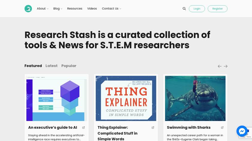 Research Stash Landing Page