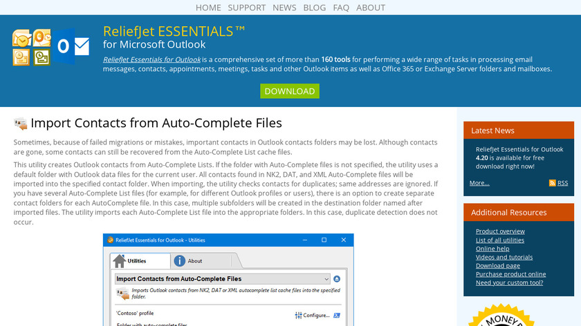 Import Contacts from Auto-Complete Files Landing Page
