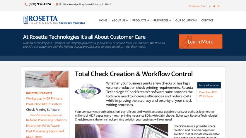 CheckStream Landing Page