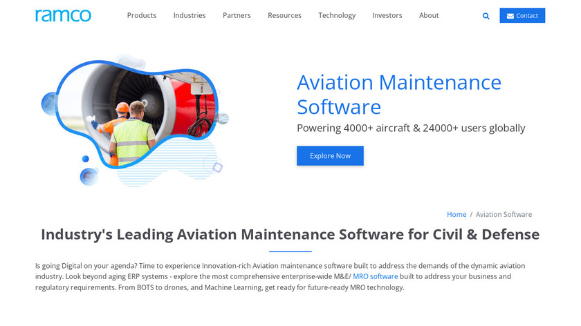 Ramco Aviation Solutions Landing Page