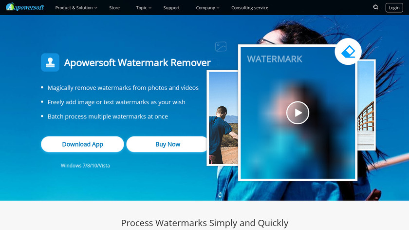 Apowersoft Watermark Remover Landing Page