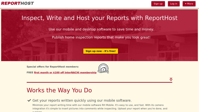 ReportHost Landing Page
