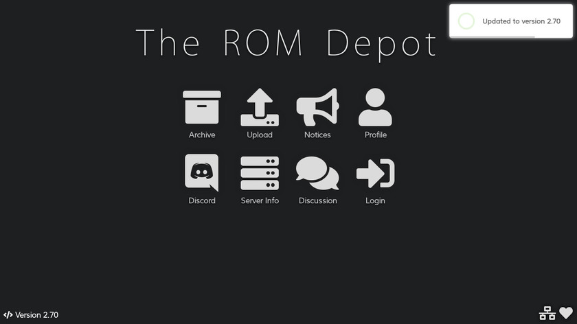 The ROM Depot Landing Page