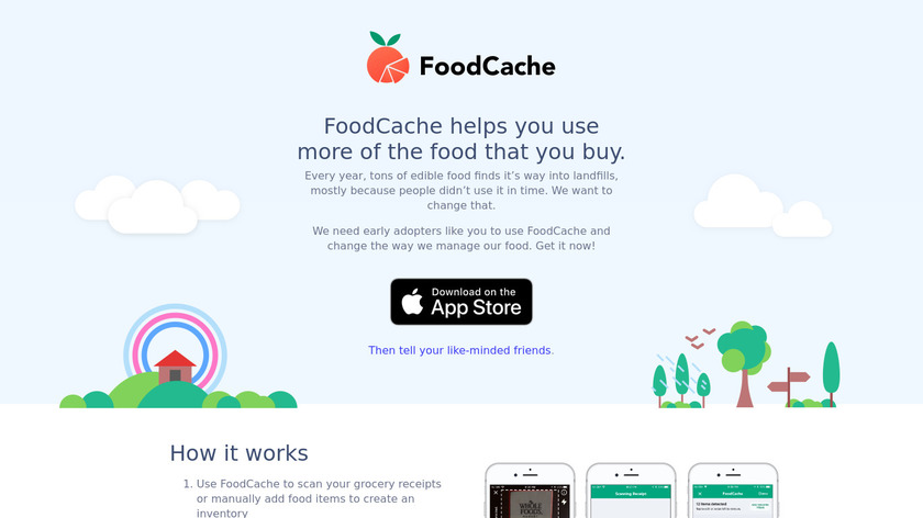 FoodCache Landing Page