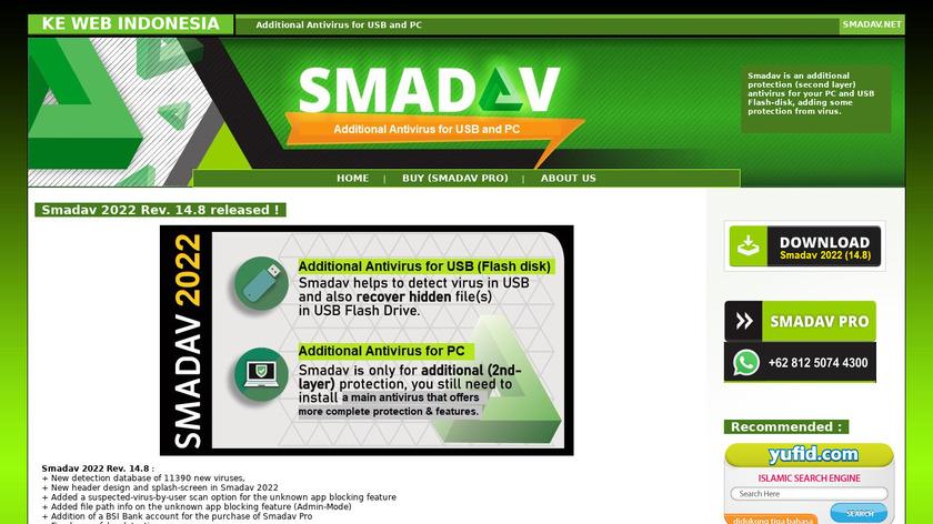 SMADAV Landing Page