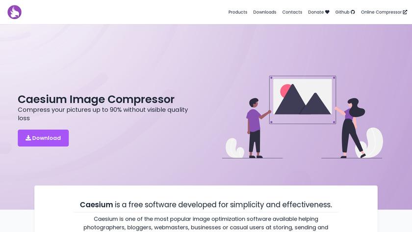 Caesium Image Compressor Landing Page