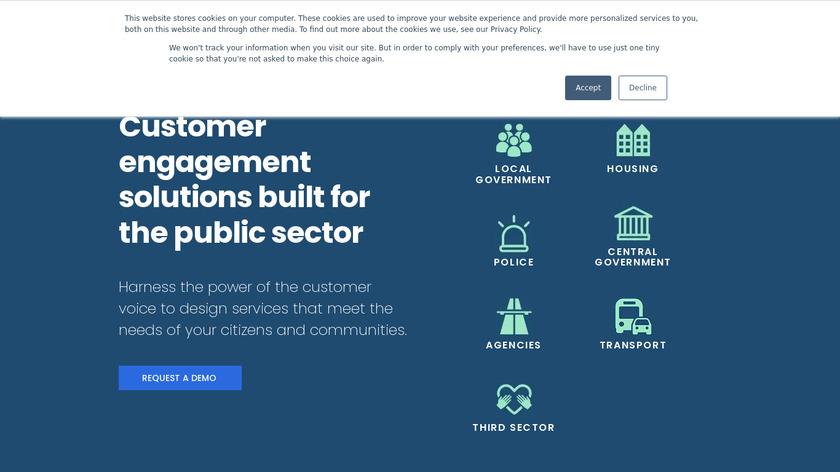 GovMetric Landing Page