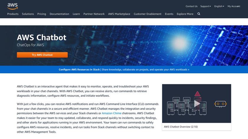 AWS Chatbot Landing Page