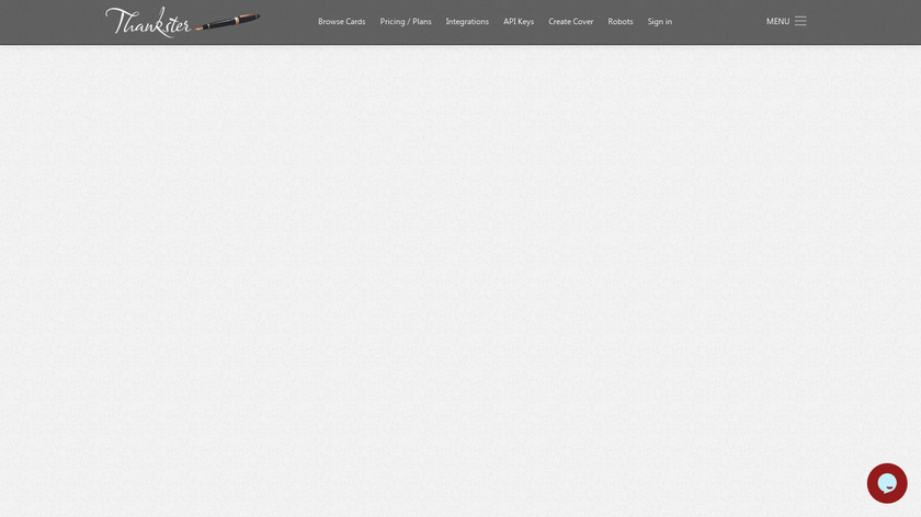 Thankster Landing Page