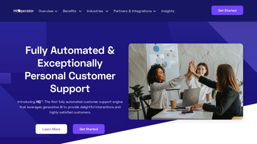HiOperator Landing Page