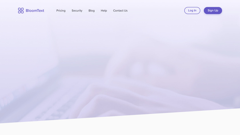 BloomText Landing Page