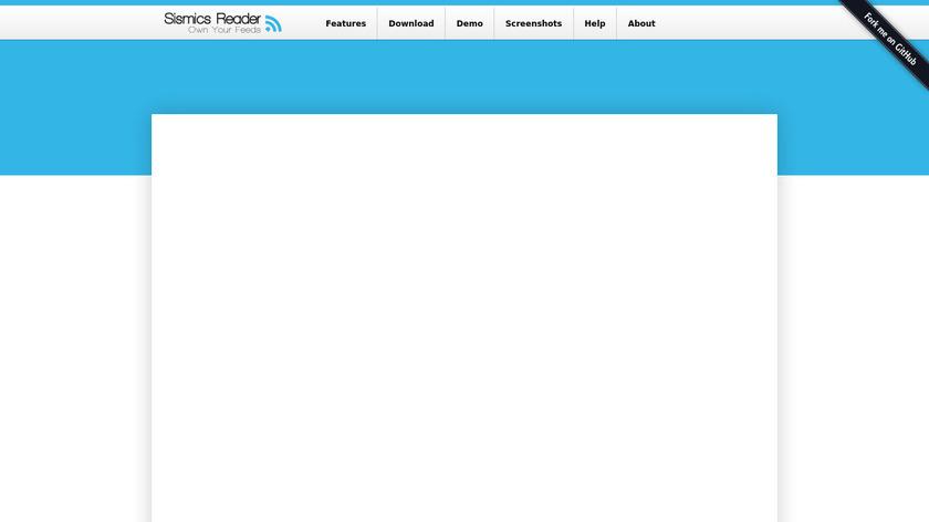 Sismics Reader Landing Page