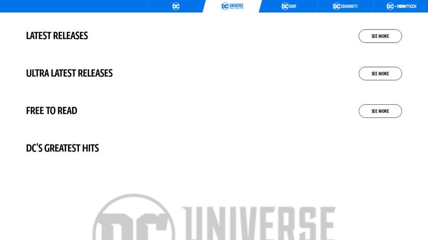 DC Universe Landing Page