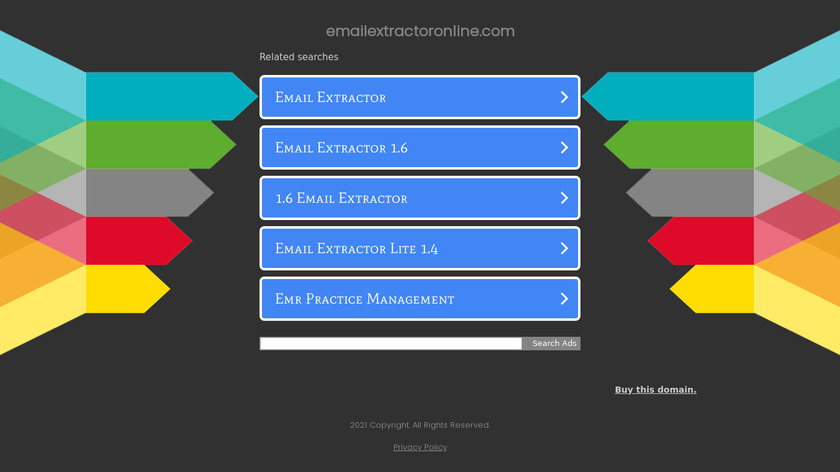 Email Extractor Online Landing Page