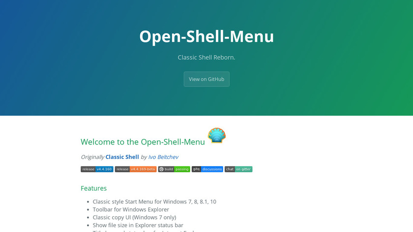 Open Shell Landing Page