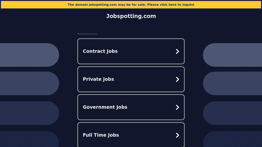 Jobspotting Landing Page
